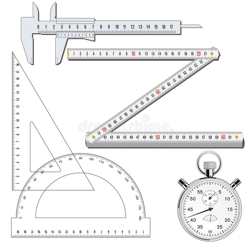 измеряя инструменты бесплатная иллюстрация