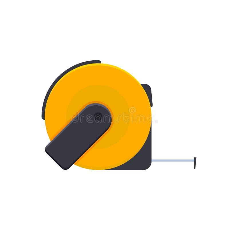Измеряя лента с разделениями, измеряя лента, для измеряя объектов, длина бесплатная иллюстрация