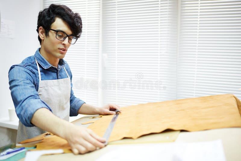 Измеряя часть ткани стоковые изображения