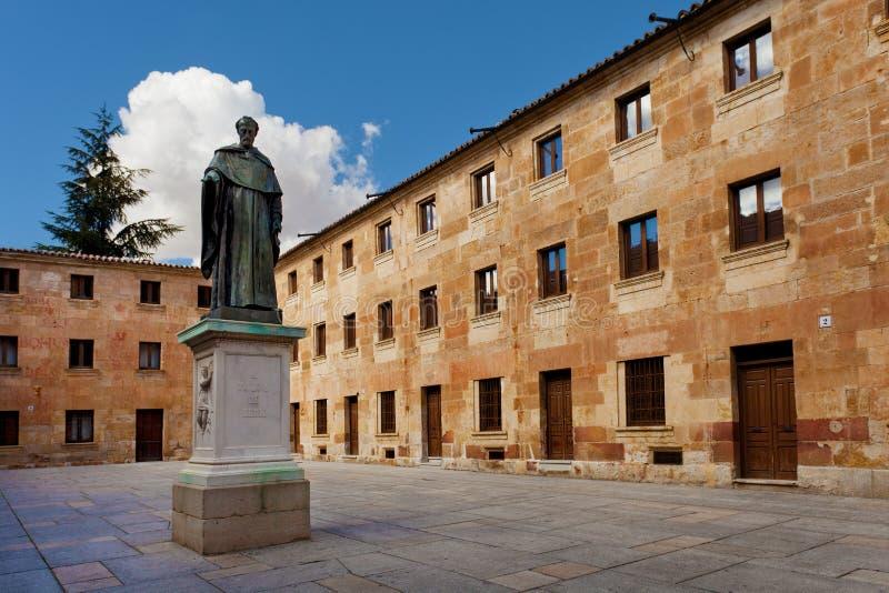 Изнашивайте Луис de Леон и университет Саламанки стоковые фотографии rf