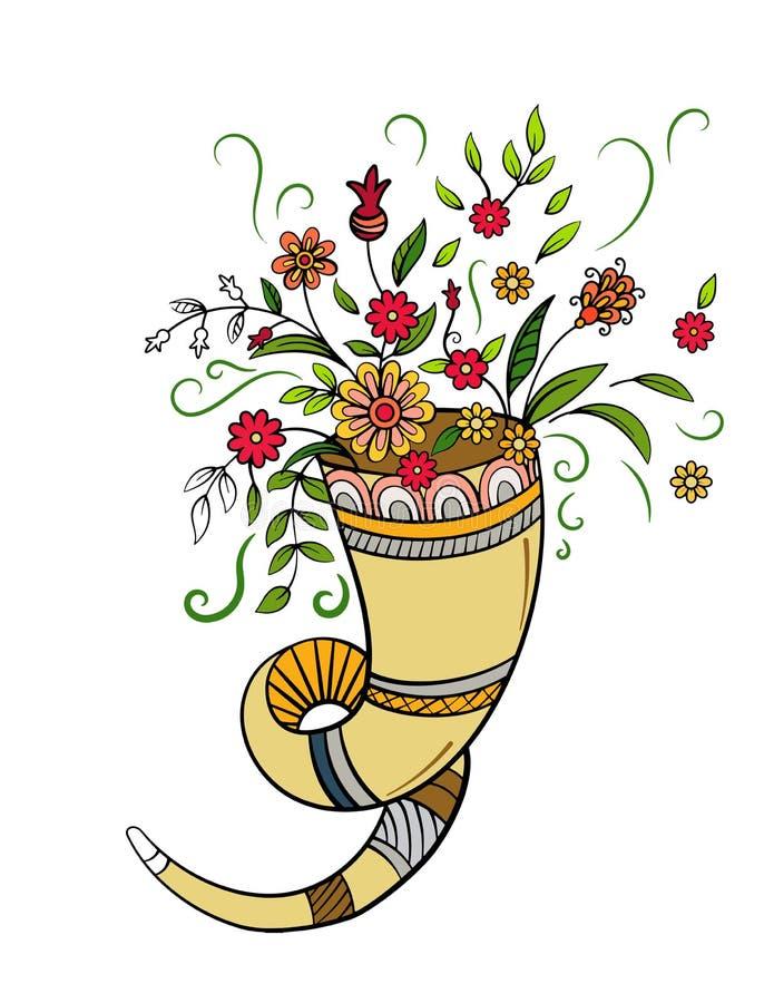 Изобилие осени с цветками бесплатная иллюстрация