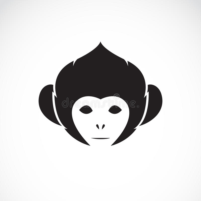 Изображение вектора головы обезьяны иллюстрация штока