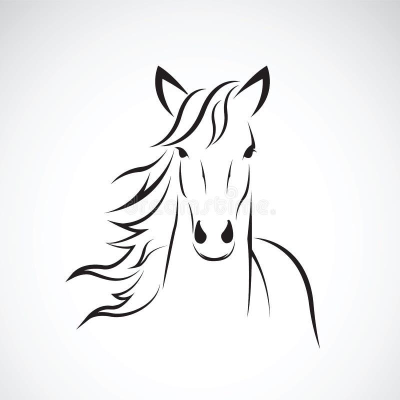 Изображение вектора дизайна головы лошади на белой предпосылке, логотипе лошади животные одичалые иллюстрация вектора