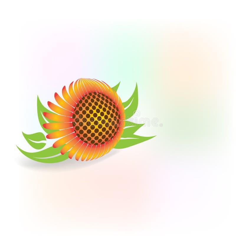 Изображение вектора логотипа значка солнцецветов бесплатная иллюстрация