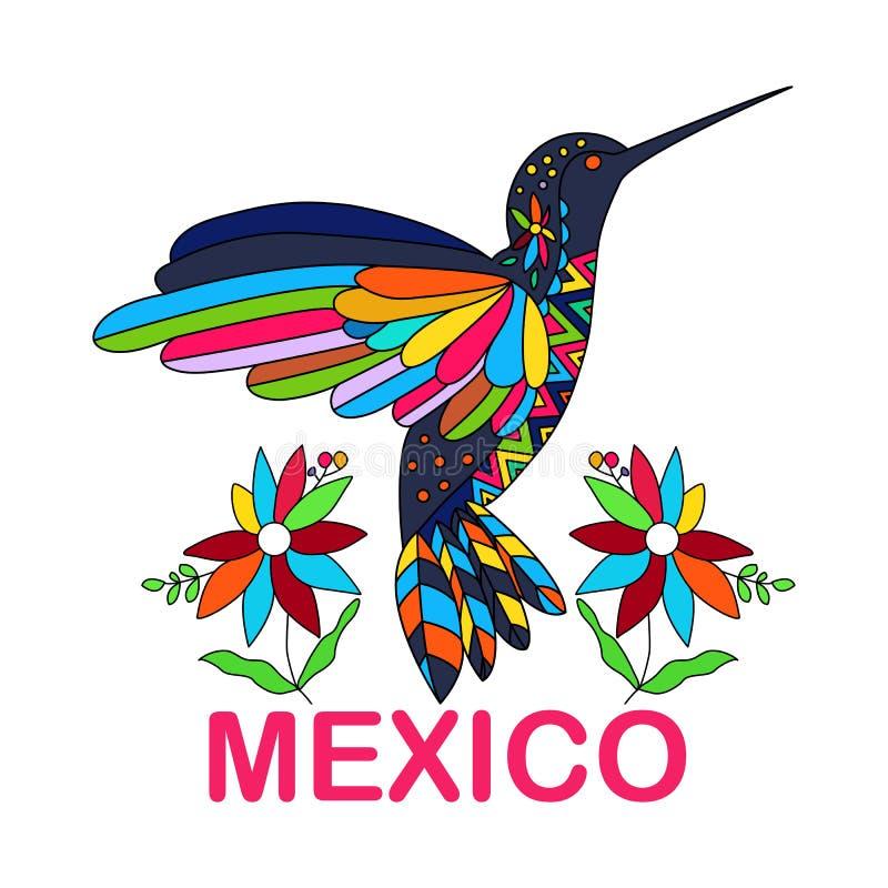изображение вектора мексиканской птицы hummingbirds традиционно бесплатная иллюстрация