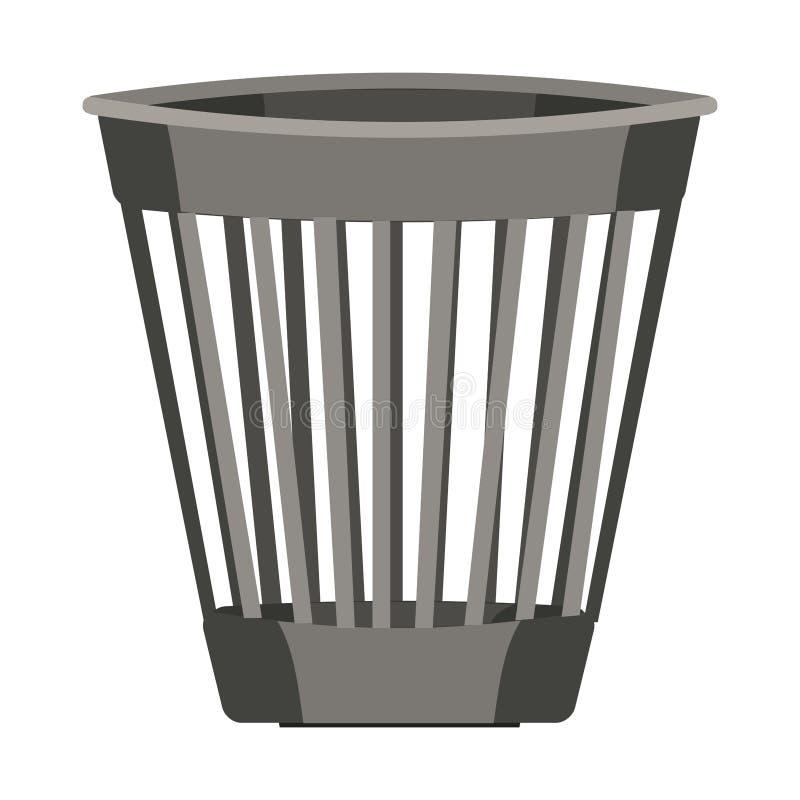 Изображение вектора мусорной корзины изолировало иллюстрация вектора