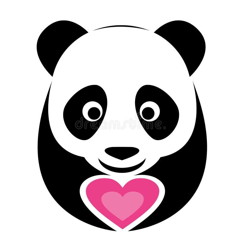 Изображение вектора панды бесплатная иллюстрация