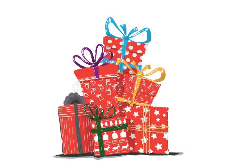 Изображение вектора праздничных подарков бесплатная иллюстрация