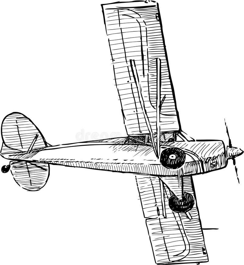 Самолет летания иллюстрация вектора