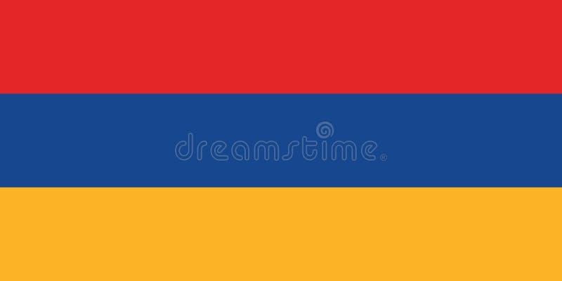 Изображение вектора флага Армении, точных армянских размеров и цветов флага иллюстрация штока