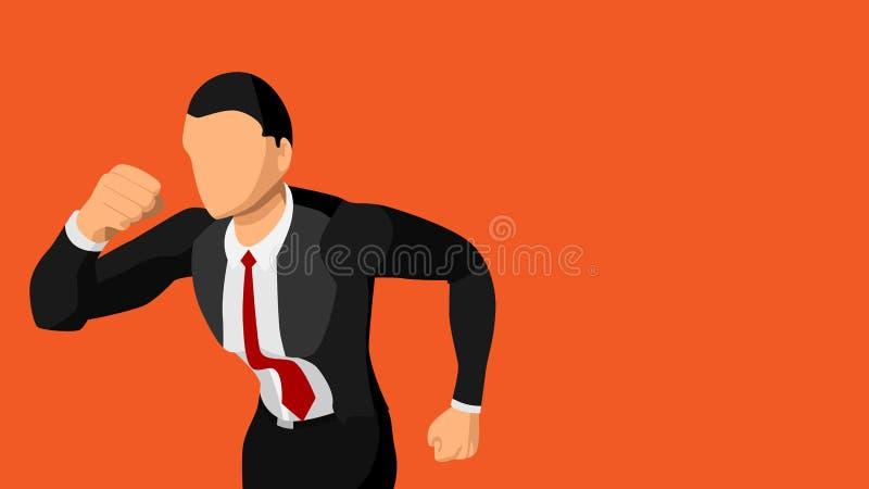 Изображение вектора хорошо одетого мужского идущего конца-вверх пустая предпосылка EPS10 иллюстрация штока