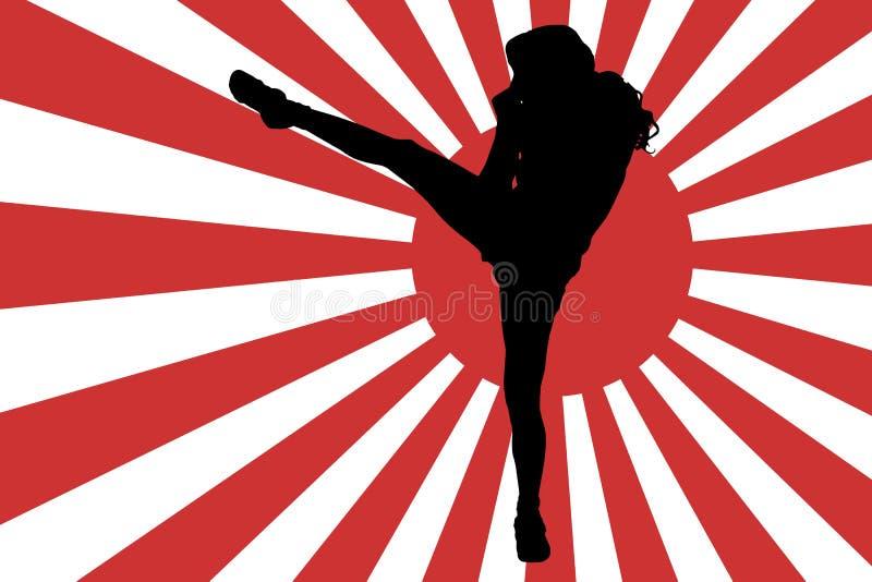 Изображение вектора японского флага иллюстрация штока