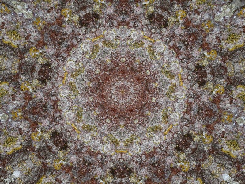 Изображение винтажного стиля kaleidoscopic для предпосылки стоковое изображение
