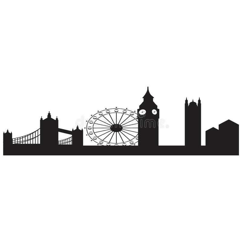 Изображение города Лондона в типе вектора бесплатная иллюстрация