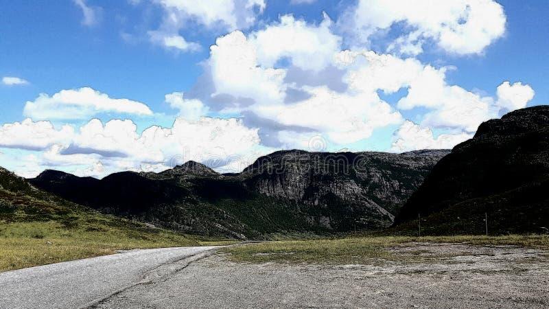 Изображение горы в влиянии чертежа стоковые фото