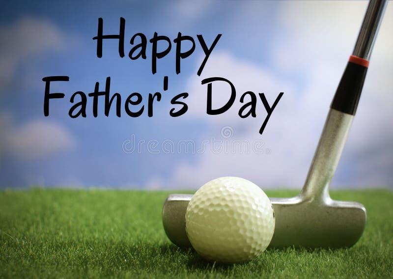 Изображение Дня отца играя в гольф withtext добавило стоковые изображения rf