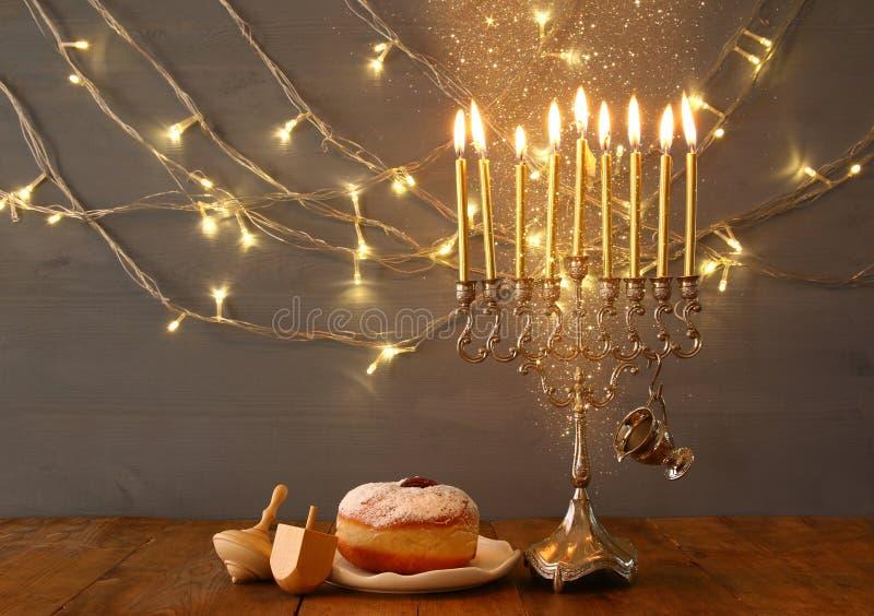 Изображение еврейской предпосылки Хануки праздника стоковые изображения