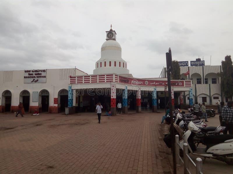 Изображение железнодорожного вокзала Gulbarga стоковое изображение rf