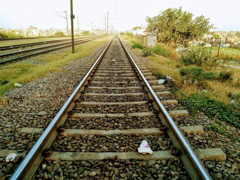 Изображение железнодорожного пути стоковые фотографии rf