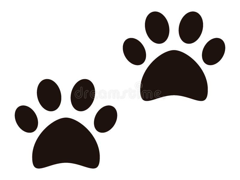Изображение животного следа ноги иллюстрация вектора