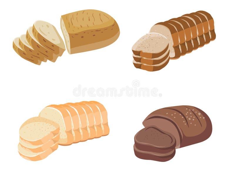 Изображение запаса вектора иллюстрации хлеба иллюстрация штока