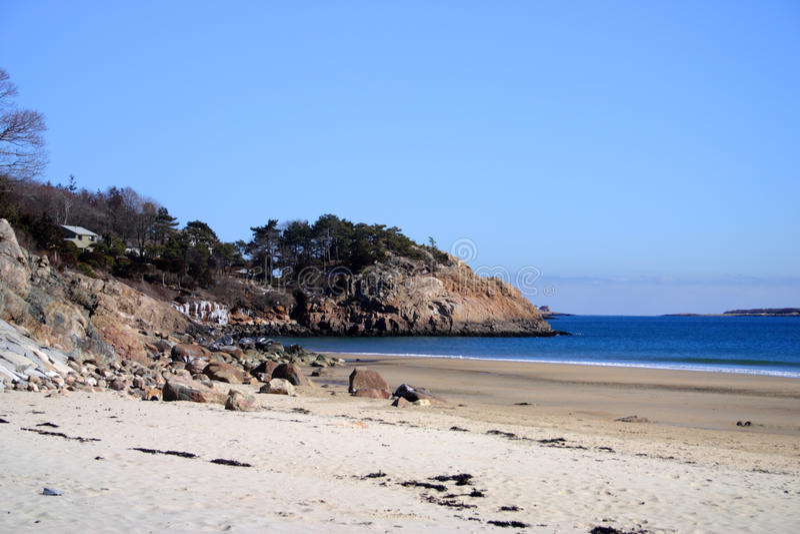Изображение запаса пляжа петь, Массачусетса, США стоковые фото