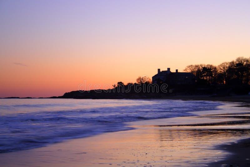Изображение запаса пляжа петь, Массачусетса, США стоковые фотографии rf
