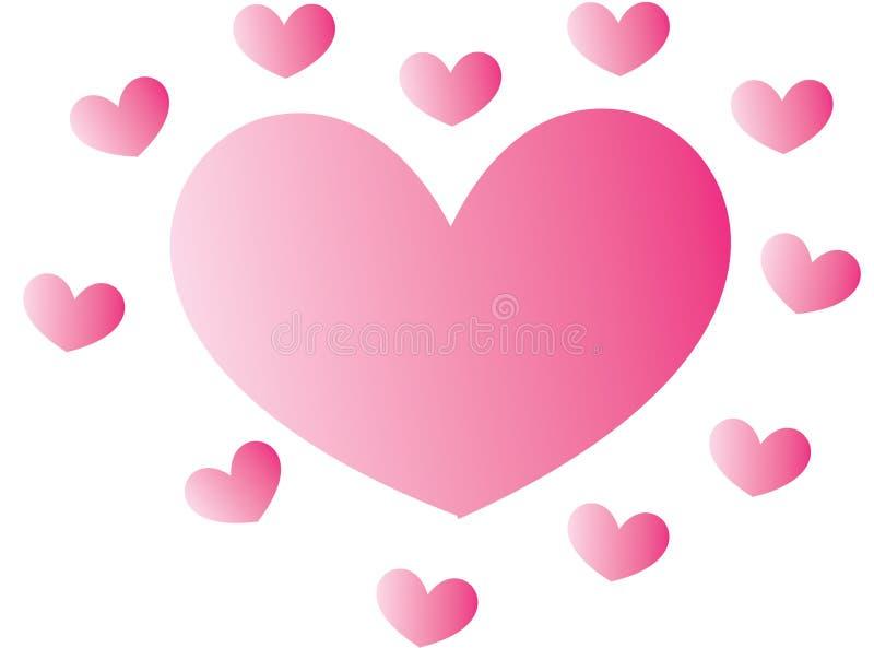 Изображение запаса: Розовые сердца бесплатная иллюстрация