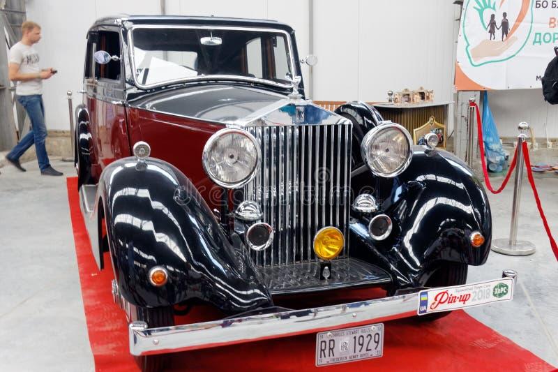 Изображение запаса фантома II Rolls Royce винтажное автомобильное стоковое фото