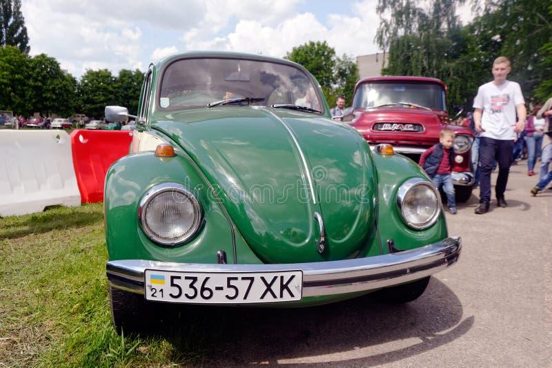 Изображение запаса Фольксвагена винтажное автомобильное стоковые изображения