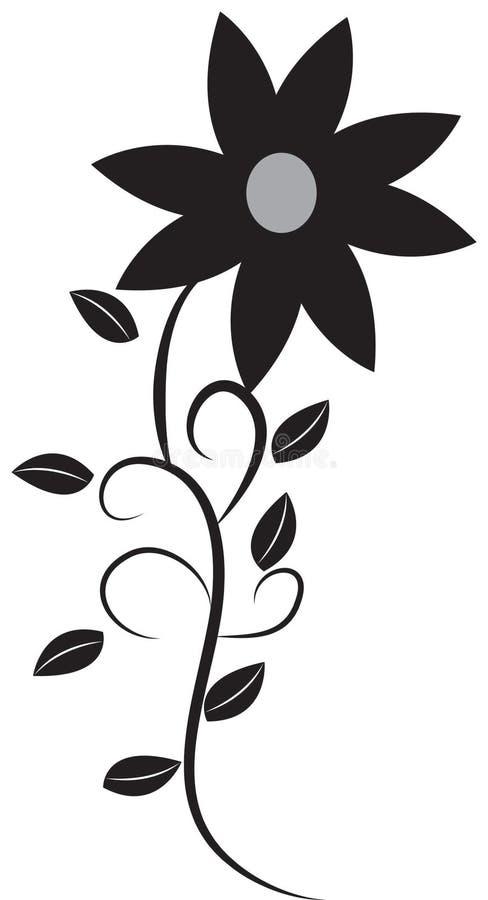 Изображение запаса: Черный цветок бесплатная иллюстрация