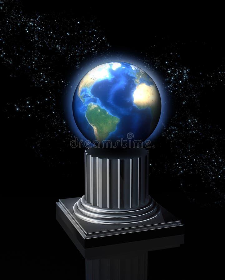 изображение земли принципиальной схемы иллюстрация штока