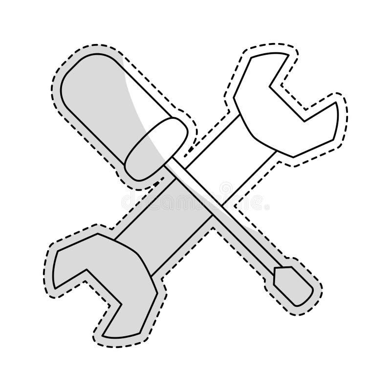 Изображение значка ключа и отвертки бесплатная иллюстрация