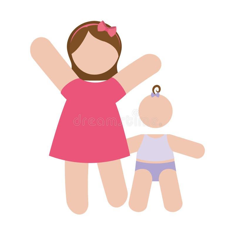 Download Изображение значка матери и ребенка Иллюстрация вектора - иллюстрации насчитывающей влюбленность, персона: 81800869