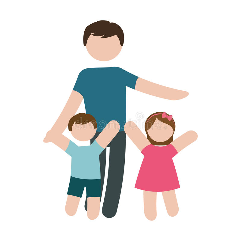 Download Изображение значка отца и детей Иллюстрация вектора - иллюстрации насчитывающей портрет, outdoors: 81800828