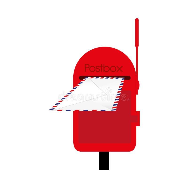 Изображение значка почтового ящика или postbox иллюстрация вектора