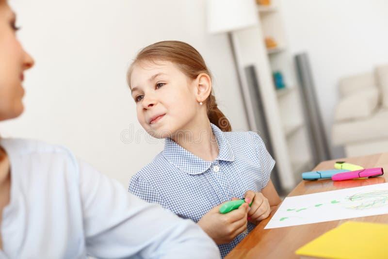 Изображение картины маленькой девочки стоковые изображения rf
