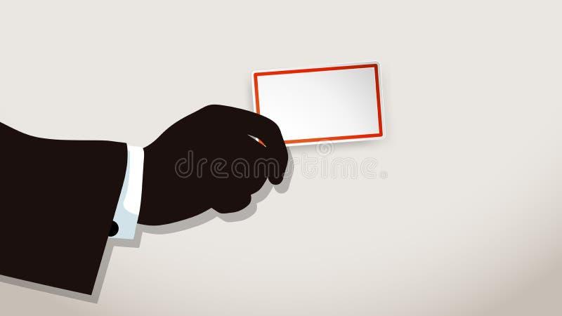 Изображение карточки посещения иллюстрация штока
