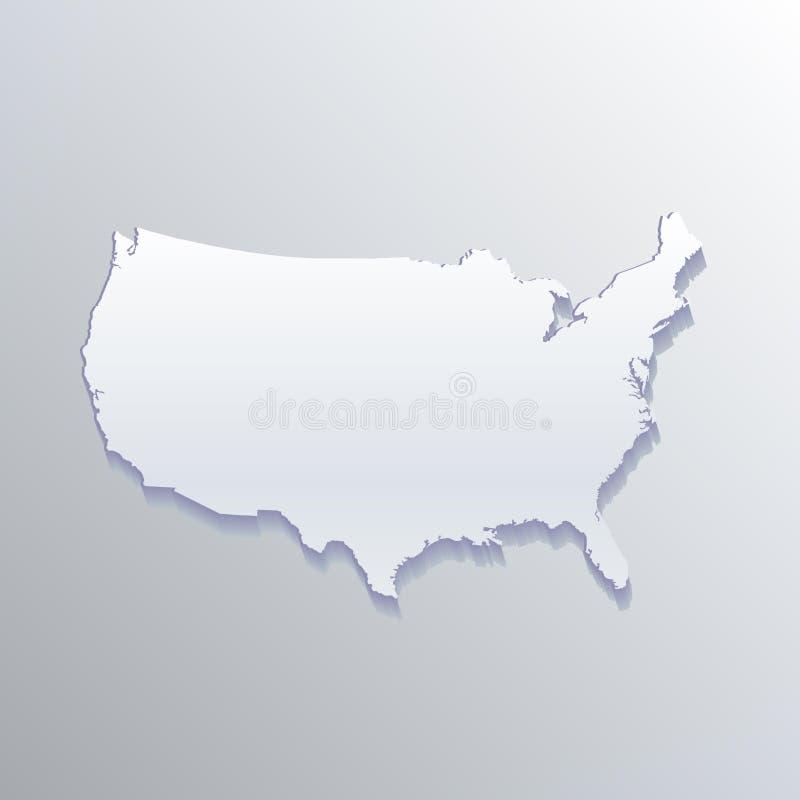 Изображение карточки id дизайна иллюстрации вектора предпосылки вектора карты США белое плоское иллюстрация штока