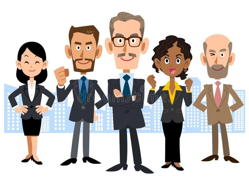 Изображение команды глобального бизнеса иллюстрация вектора