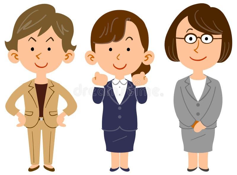 Изображение команды работниц иллюстрация штока