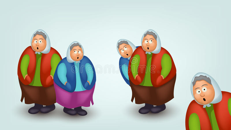 Изображение комплекта бабушки иллюстрация вектора