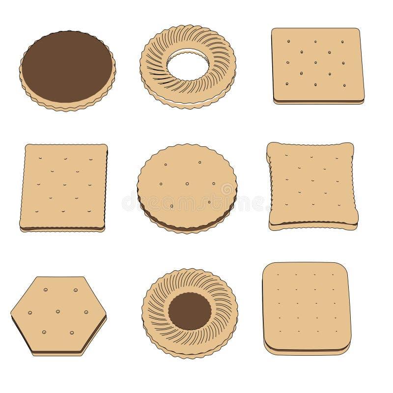 Изображение комплекта печенья бесплатная иллюстрация