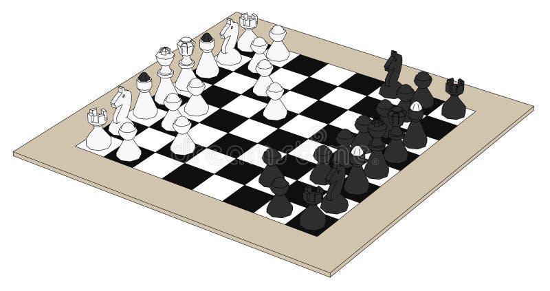 Изображение комплекта шахмат бесплатная иллюстрация