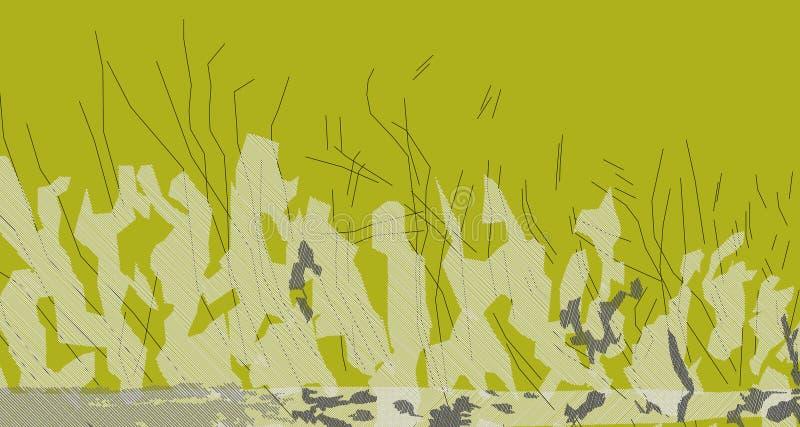Изображение конспекта 3 лиственницы желтое делает новый ландшафт стоковое изображение