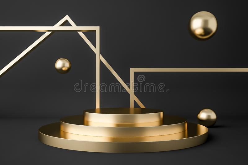 Изображение конспекта подиума витрины золота иллюстрация вектора