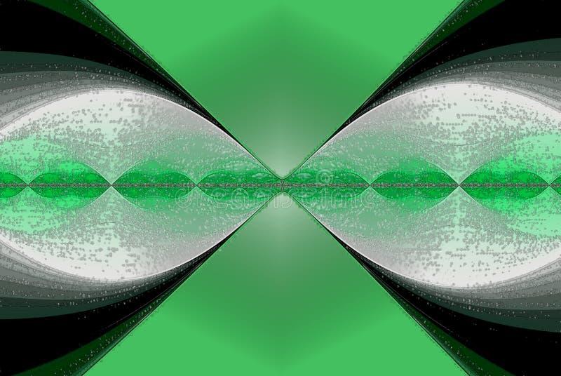 Изображение конспекта разделения вируса в идя зеленом цвете иллюстрация штока