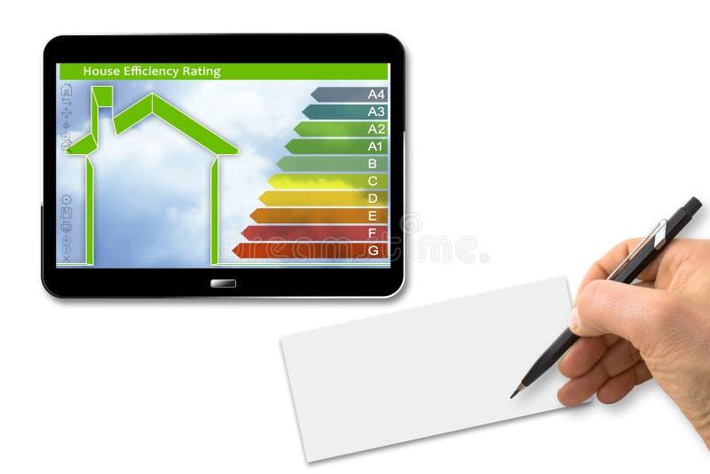 Изображение концепции выхода по энергии зданий 3D представляют digita стоковое изображение