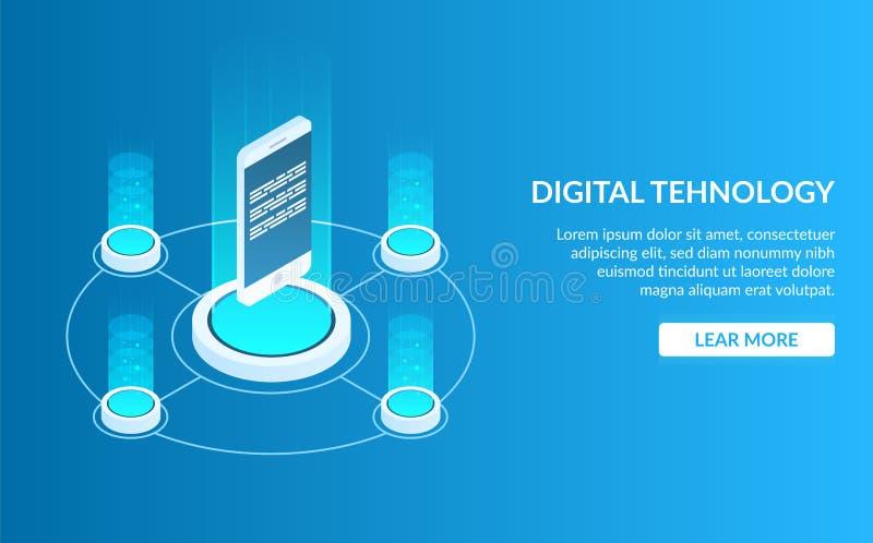 Изображение концепции цифровой технологии Мобильный телефон или smartphone Развитие мобильных применения или игры Мобильный бесплатная иллюстрация