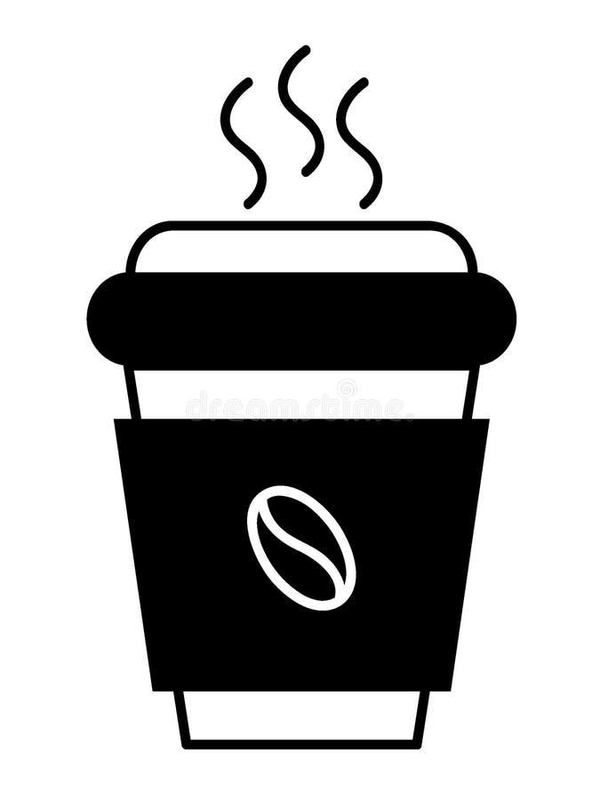 Изображение кофе, который нужно пойти придать форму чашки иллюстрация вектора